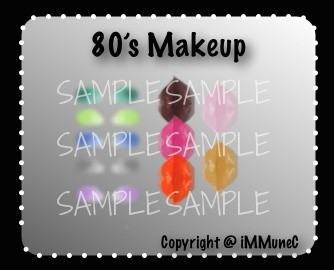 10 The 80's Lips & Eyeshadows Instant Makeup