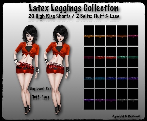 20 High Rise Latex Shorts With Resell Rights