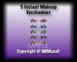 5 X Eyeshadows Instant Makeup