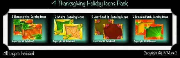 8 Thanksgiving Holiday Catalog Icons