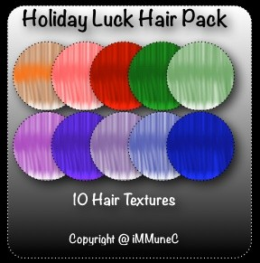 10 Holiday Luck Hair Textures With Resell Rights