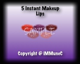 5 Gloss Lips Instant Makeup