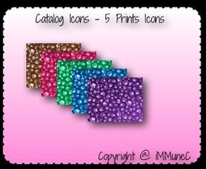 5 Prints Catalog Icons