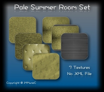 7 Pale Summer Room Textures With Resell Rights