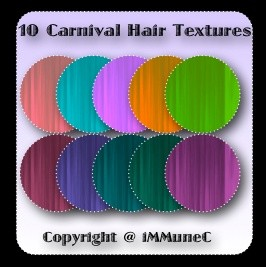 10 Carnival Hair Textures With Resell Rights