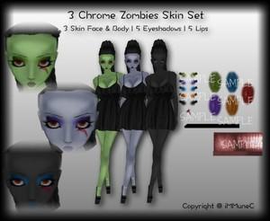3 Zombie Set Skin Textures