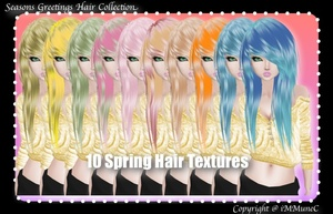10 Spring Hair Textures (SG)