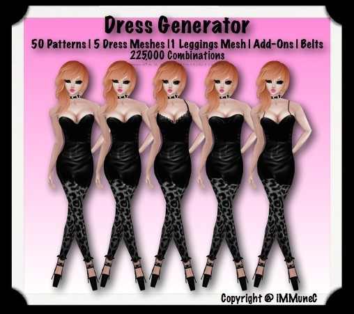 225,000 Piece Dress Generator With Resell Rights