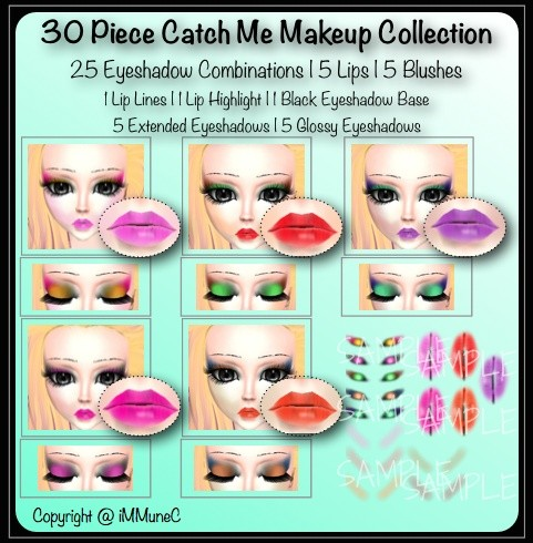 30 Piece Catch Me Instant Makeup Pack With Resell Rights