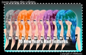 10 New Year's Hair Textures (SG)