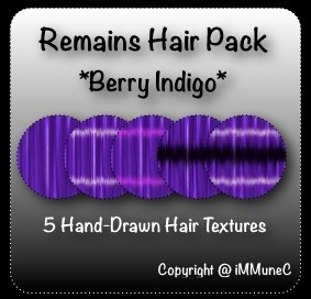 5 Berry Indigo Remains Hair Textures