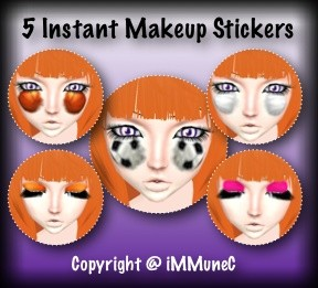 5 Sports Stickers Instant Makeup