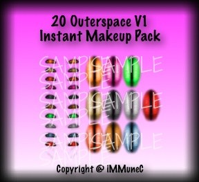 20 Outerspace V1 Instant Makeup With Resell Rights