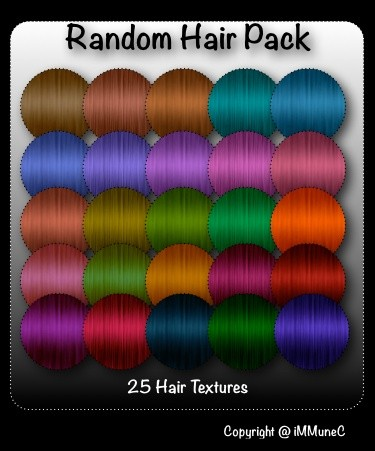 25 Random Hair Textures With Resell Rights