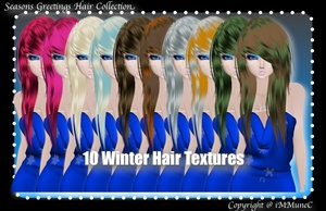 10 Winter Hair Textures (SG)