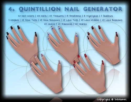 4+ Quintillion Nail Generator With Resell Rights