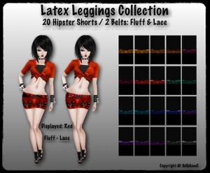 20 Hipster Latex Shorts With Resell Rights
