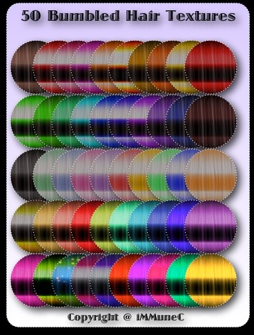 50 Bumbled Hair Textures With Resell Rights