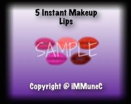 5 Lined Lips Instant Makeup
