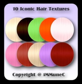 10 Iconic Hair Textures With Resell Rights