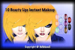 10 Beauty Lips Instant Makeup With Resell Rights