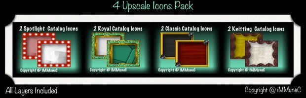 8 Upscale Catalog Icons With Resell Rights