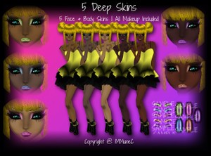 5 Deep Skin Textures With Resell Rights