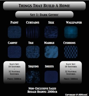 42 Dark Gothic Blue Room Textures