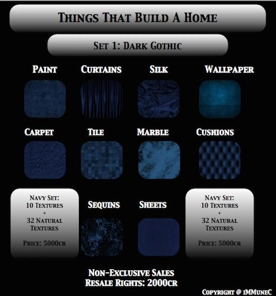 42 Dark Gothic Blue Room Textures