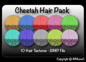 10 Cheetah Hair Textures With Resell Rights