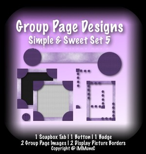 7 Piece Simple & Sweet Set 5 Group Page Design