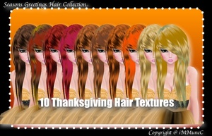 10 Thanksgiving Hair Textures (SG)