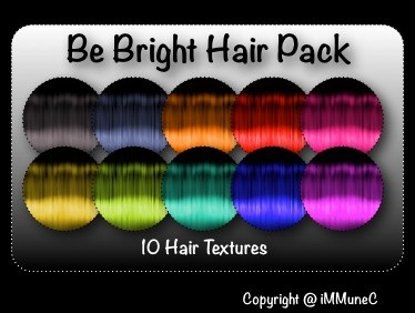 10 Be Bright Hair Textures With Resell Rights
