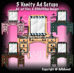 5 Vanity Advertisement Sets With Resell Rights