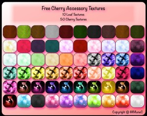 60 FREE Cherry Textures by iMMuneC @ IMVU