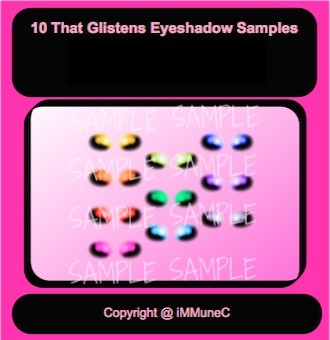 10 That Glistens Eyeshadows Instant Makeup With Resell Rights