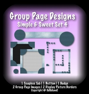 7 Piece Simple & Sweet Set 4 Group Page Design
