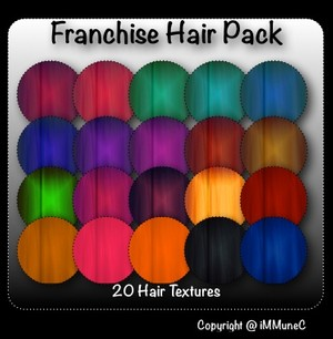 20 Franchise Hair Textures With Resell Rights