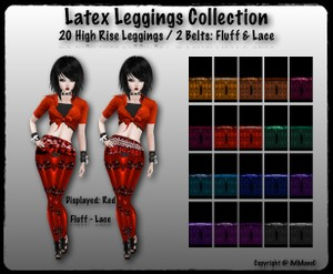 20 High Rise Latex Leggings With Resell Rights