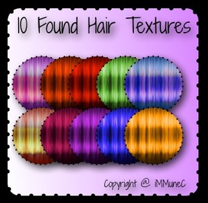 10 Found Hair Textures With Resell Rights