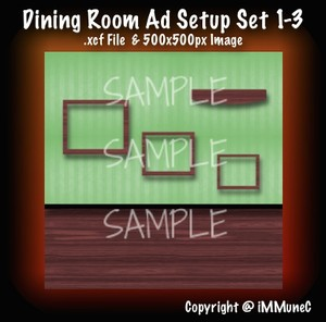 1 Dining Room Advertisement Set 1-3