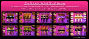 50 Ultimate Neutral Skin Textures Collection With Resell Rights