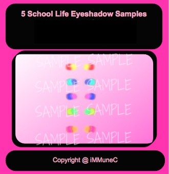 5 School Life Eyeshadows Instant Makeup With Resell Rights