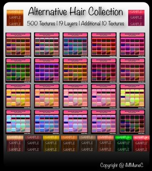 500 Alternative Hair Textures With Resell Rights