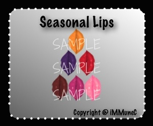 6 Seasonal Lips Instant Makeup With Resell Rights