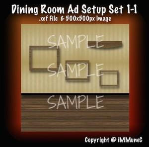 1 Dining Room Advertisement Set 1-1