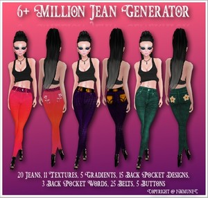 6+ Million Jean Generator With Resell Rights (1/5 Sold)