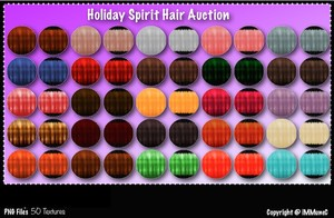 50 Holiday Spirit Hair Textures With Resell Rights
