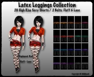 20 High Rise Sexy Latex Shorts