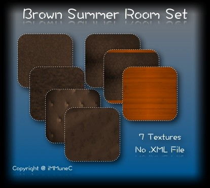 7 Brown Summer Room Textures With Resell Rights